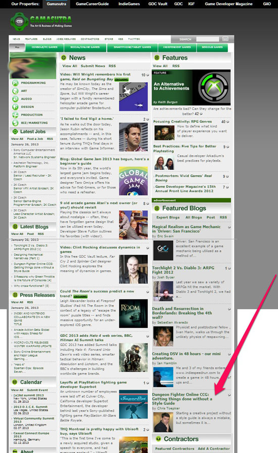 Gamasutra feature Toepker